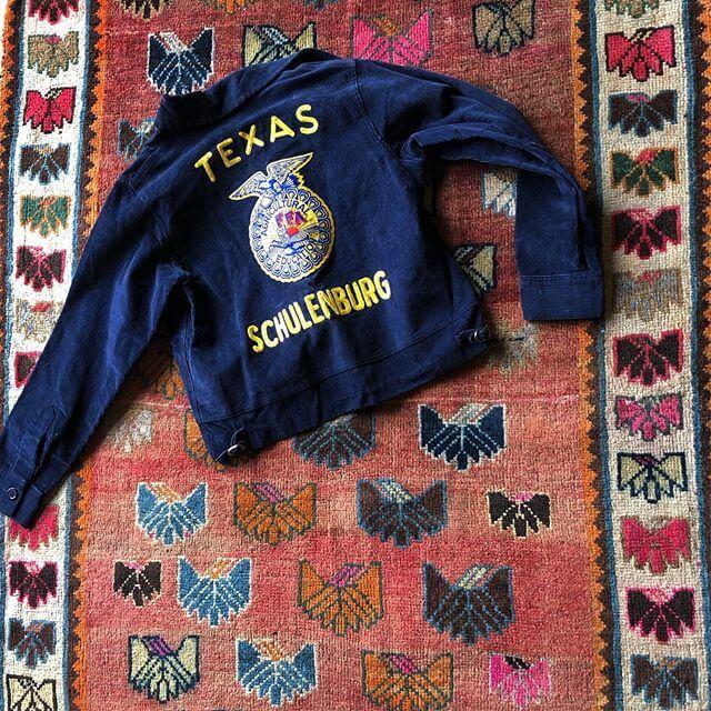 texas schulenburg jacket on a rug